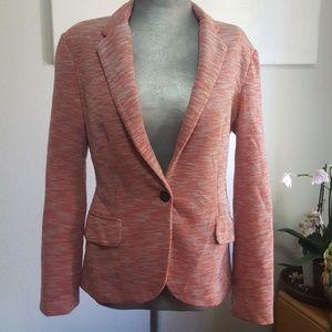 Anthropologie pink blazer